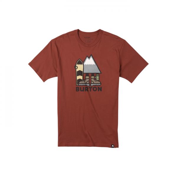Burton Ripton Short Sleeve T Shirt Men maglietta maschile uomo snowboard rossa mattone