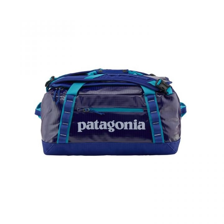 Patagonia Borsone Black Hole Duffel Bag 40L blu elettrico scritta bianca
