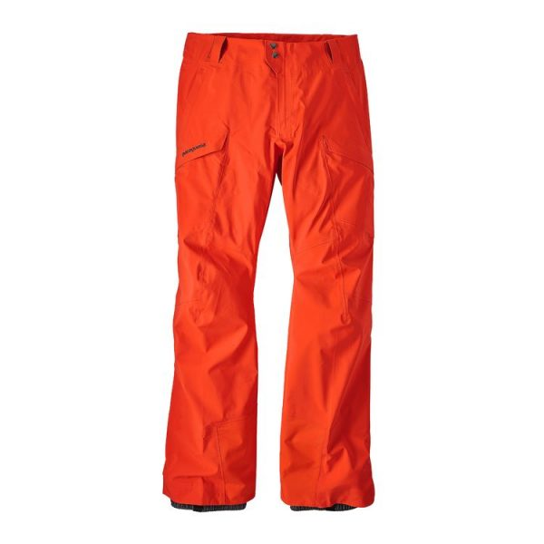 Patagonia Men's Untracked Pants pantaloni gore tex sci snowboard freeride arancioni