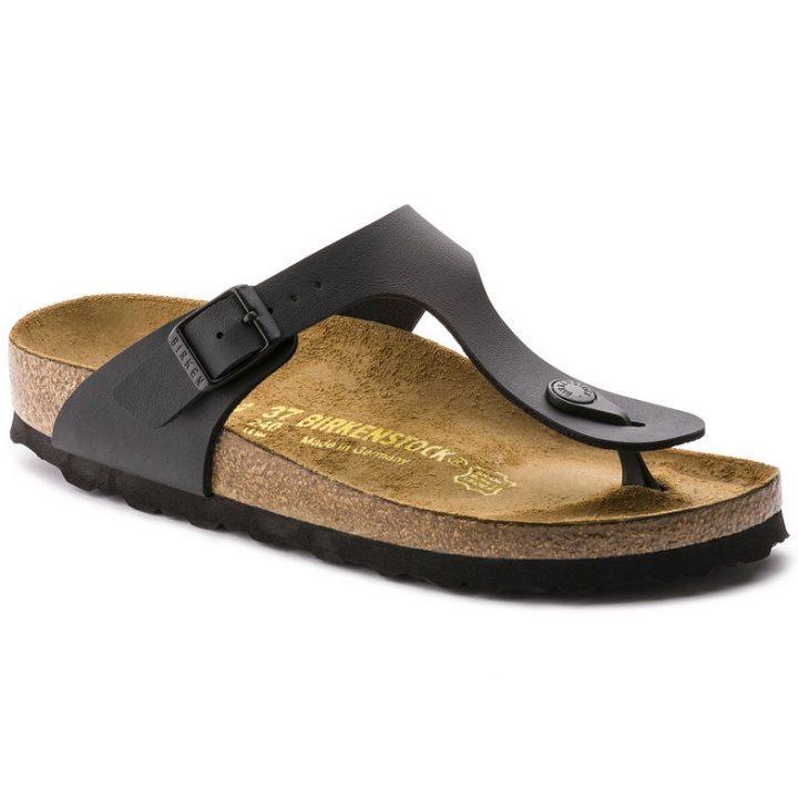 Birkenstock Gizeh Sandalo Infradito Nero sandalo ciabatta pelle sughero cuoio