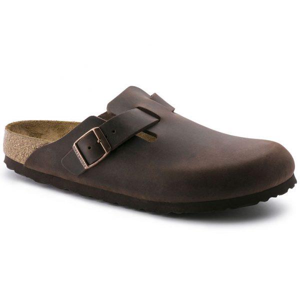 Birkenstock Boston Pelle oliata sandalo chiuso maschile uomo pelle cuoio