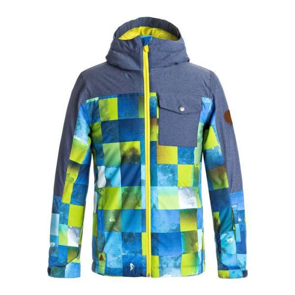 Quicksilver Giacca Ragazzo Mission Block sci snowboard blue sulphur