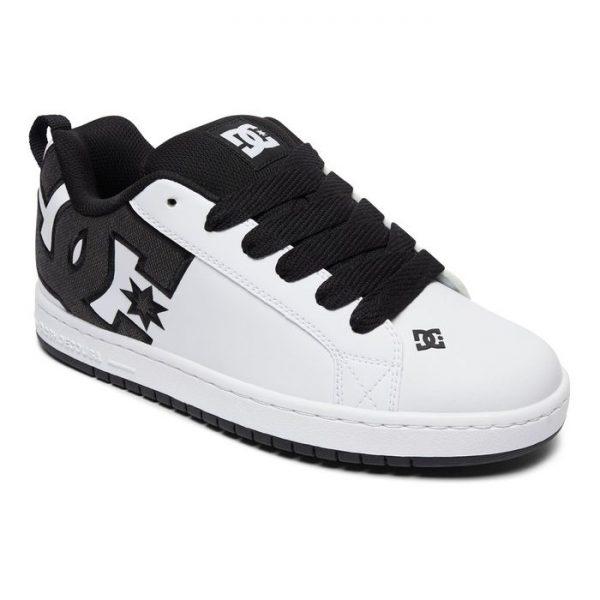 Dc Shoes Court Graffik Se scarpe uomo baicnhe logo nero ragazzo
