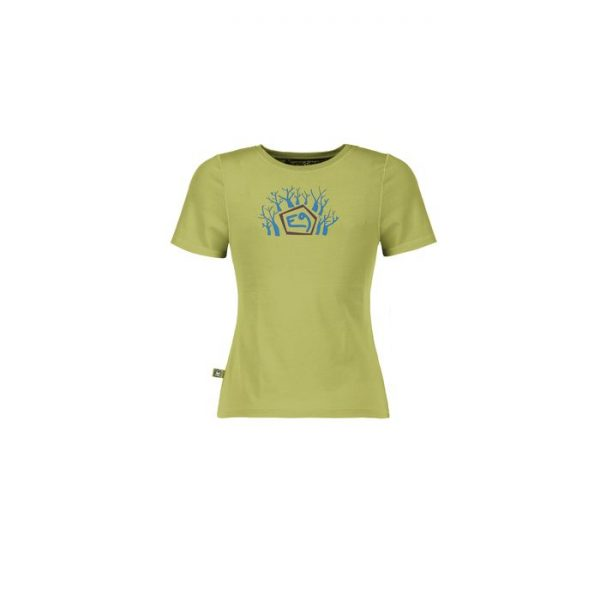 Enove B Forest T-shirt ragazzo verde maglietta arrampicata