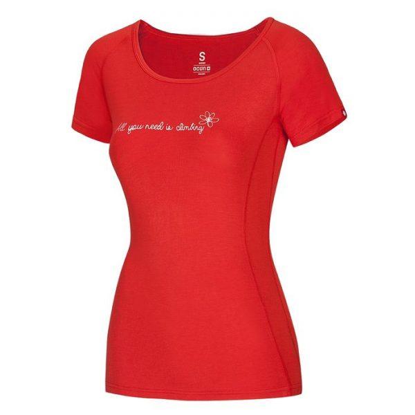 Ocun Bamboo T Flower t-shirt donna ragazza arrampicata