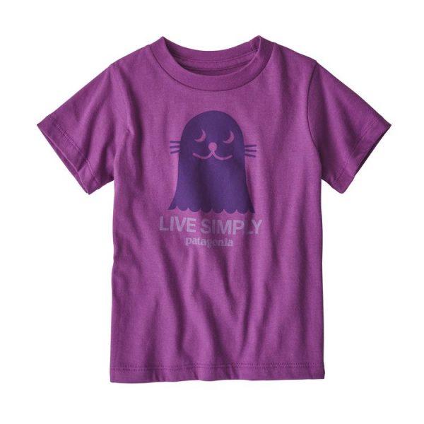 Patagonia Baby Live Simply Organic Cotton T-Shirt viola bimba ragazzina