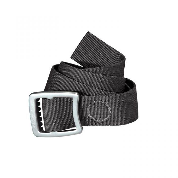 Patagonia Tech Web Belt cintura grigia fibia alluminio