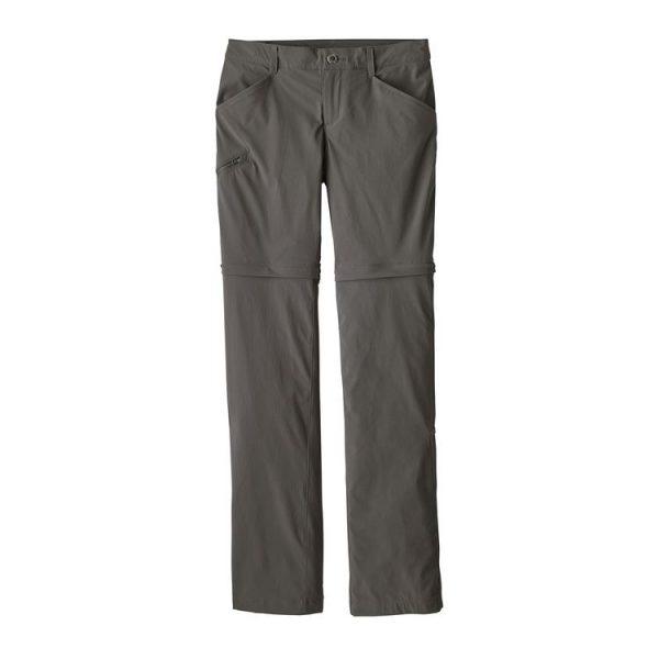 Patagonia Women's Quandary Convertible Pants - Regular pantaloni divisibili grigi donna trekking viaggio