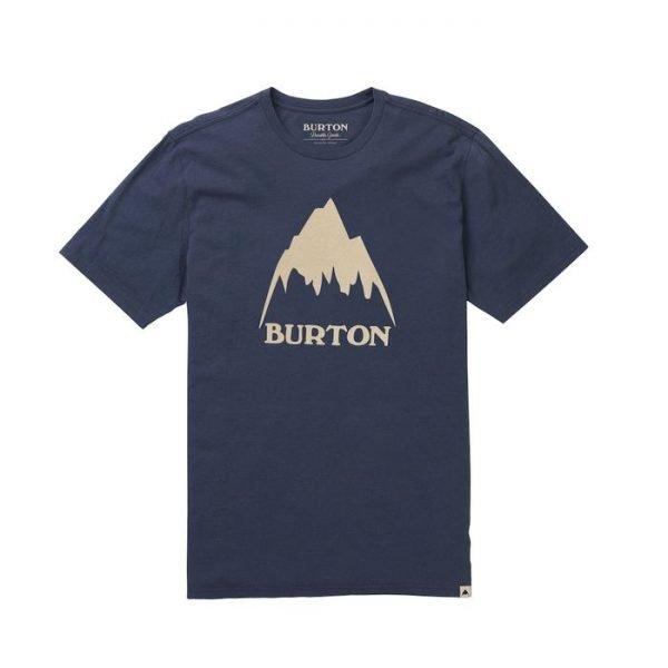 Burton Men's Classic Mountain High Short Sleeve T Shirtm maglietta ragazzo uomo montagna blu
