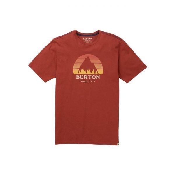 Burton Men's Underhill Logo Short Sleeve T Shirt logo montagna rossa