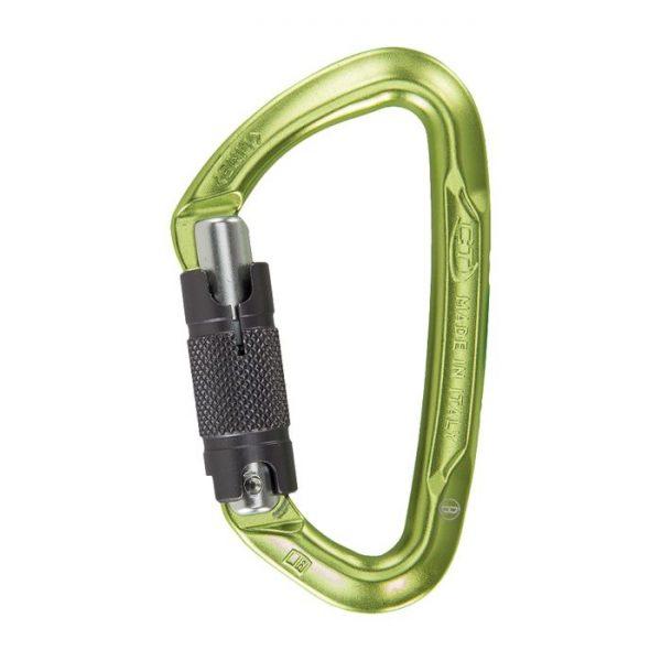 Climbing Technology Moschettone Lime Wg arrampicata leggero piccolo twist lock piastrina