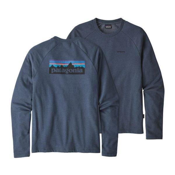 Patagonia Men's P-6 Logo Lightweight Crew Sweatshirt felpa girocollo uomo ragazzo logo schiena