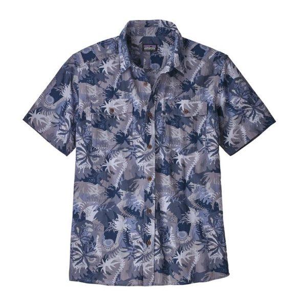Patagonia Men's Steersman Shirt camicia a fiorelloni uomo surfista hawaii