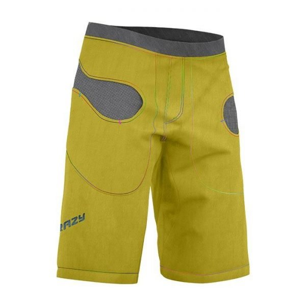 Crazy Idea Shorts Gulp Man pantalone corto arrampicata uomo giallo