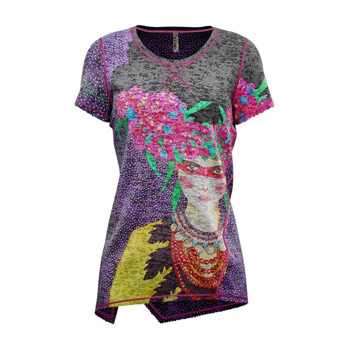 Crazy Idea T-Shirt Aloha Woman