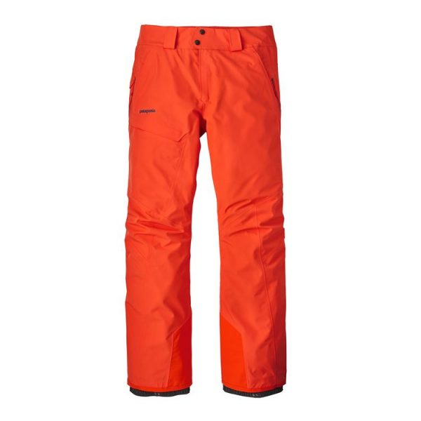 Patagonia Men's Powder Bowl Pants - Regular pantalone snowboard sci goretex arancione uomo