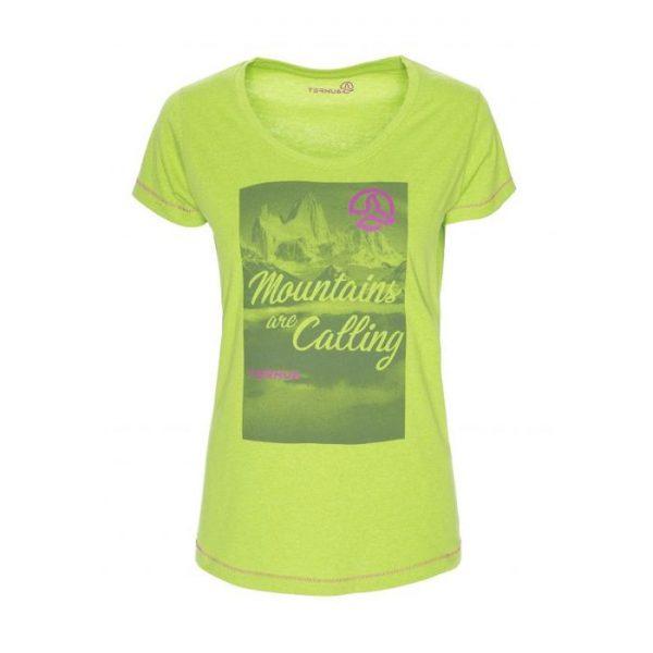 Ternua T-shirt Donna Ikana verde acido