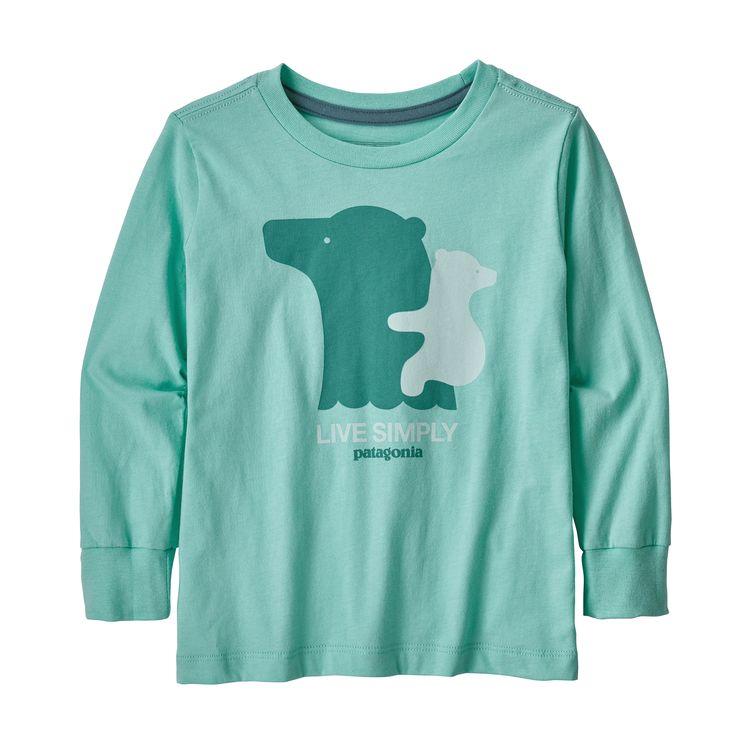Patagonia Baby Long-Sleeved Graphic Organic T-Shirt manica lunga maglietta bimbo bambino