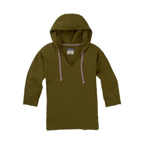 Women's Burton Myna Pullover Long Sleeve T Shirt felpa leggera donna ragazza verdone
