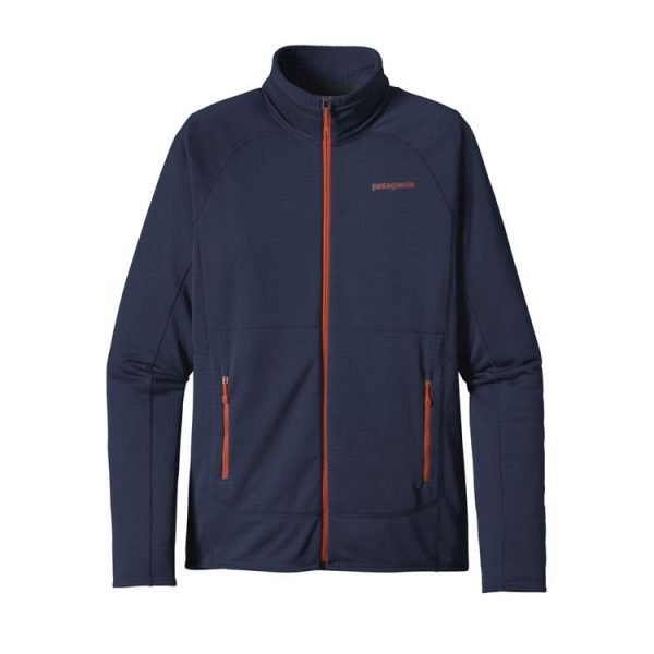 Patagonia Men's R1 Fleece Pullover pile sci alpinismo uomo blu