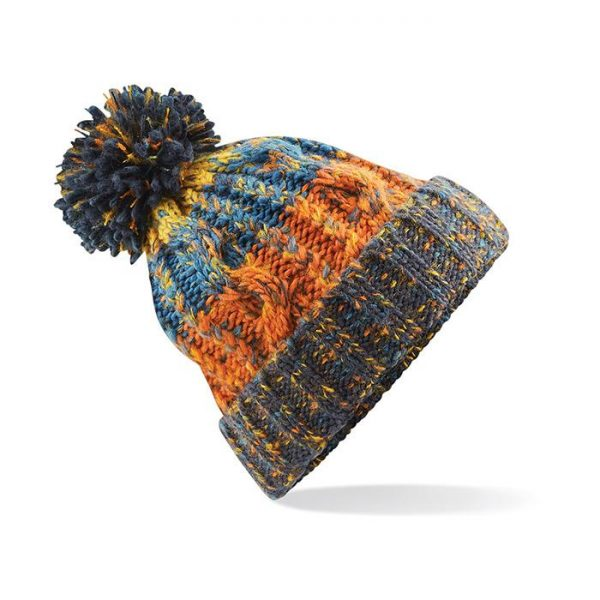 Crazy Idea Cap Samedan berretto cappello invernale arancione marrone