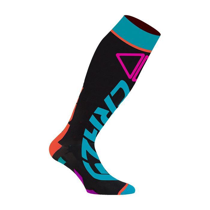 Crazy Idea Crazy Carbon Socks calzino tecnico polpaccio colorato