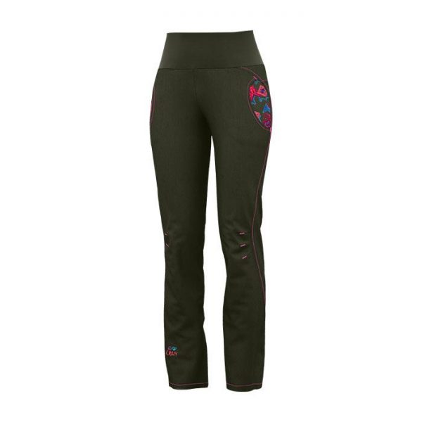 Crazy Idea Pants After Women Invernale pantalone donna ragazza verde