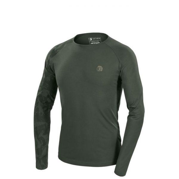 Rock Slave Tatoo T-shirt Uomo Manica Lunga verdone manica stampata
