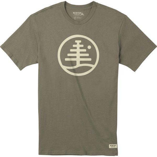 Men's Burton Family Tree Short Sleeve T Shirt maglietta logo albero uomo