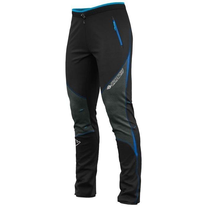 Pantalone uomo maschile sci alpinismo trekking invernale, nero blu
