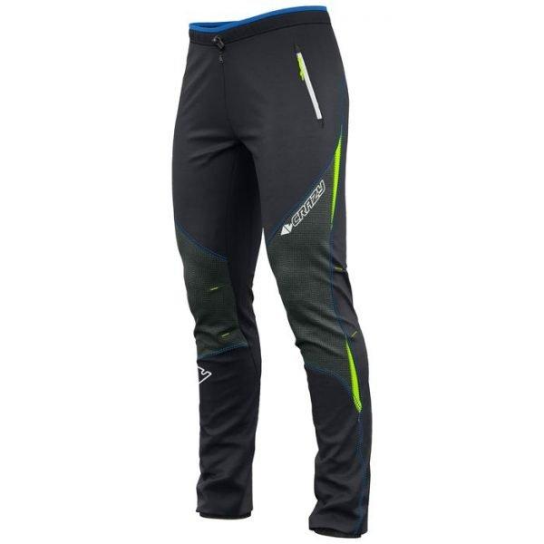 pantalone sci alpinismo invernale nero verde fluo