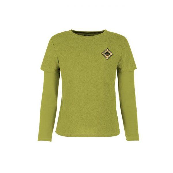 E9 Maglietta Ragazzo Bimbo Chestunt Enove T-shirt manica lunga arrampicata castagna