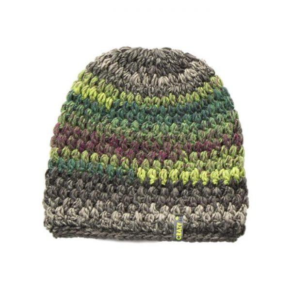 Crazy Idea Cappellino Cap Rainbow lana sportivo montagna uomo donna