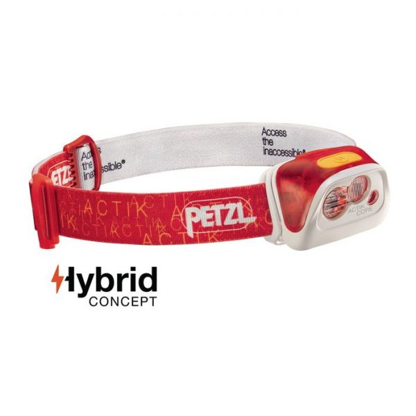 Petzl Lampada Frontale Actik Core red rossa