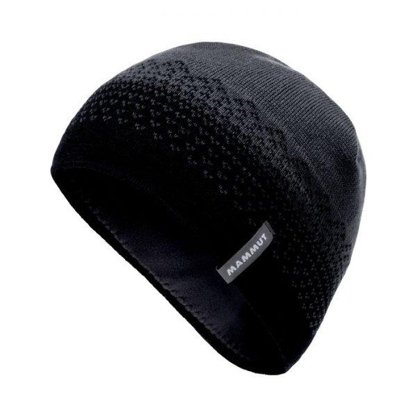 Mammut Merino Beanie Cappellino lana invernale sci nero grigio