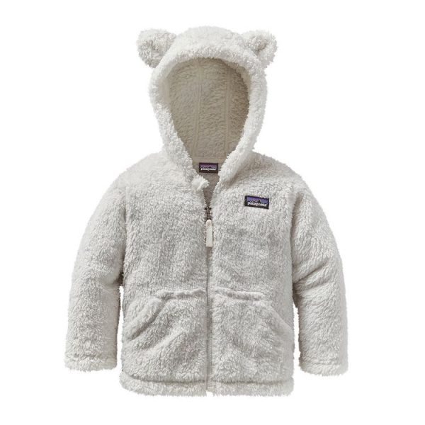 Patagonia Baby Furry Friends Hoody birch white bianco orsacchiotto bimbo pile
