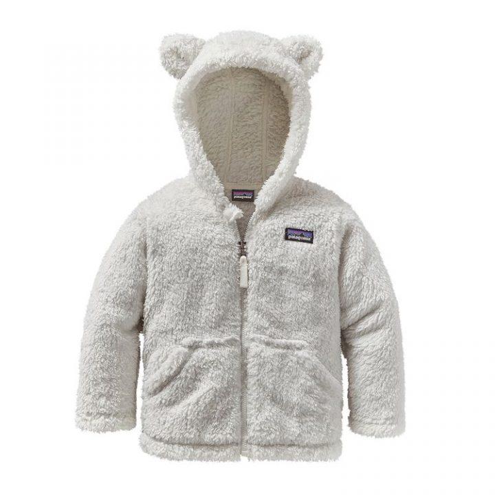 Patagonia Baby Furry Friends Hoody birch white bianco orsacchiotto bimbo pile