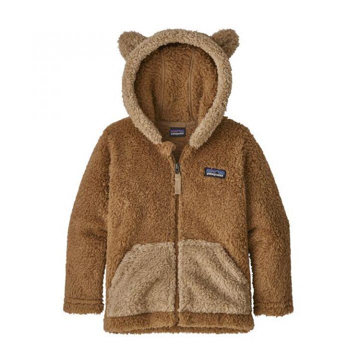 Patagonia Baby Furry Friends Hoody pile orsacchiotto bimba bambino caldo beech brown