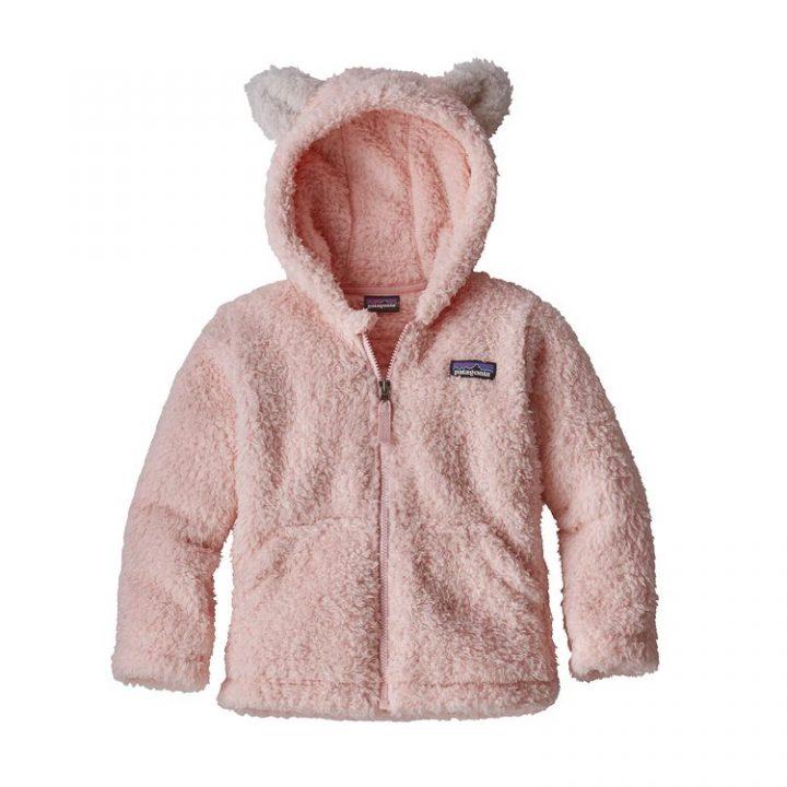 Patagonia Baby Furry Friends Hoody orsetto bimba rosa