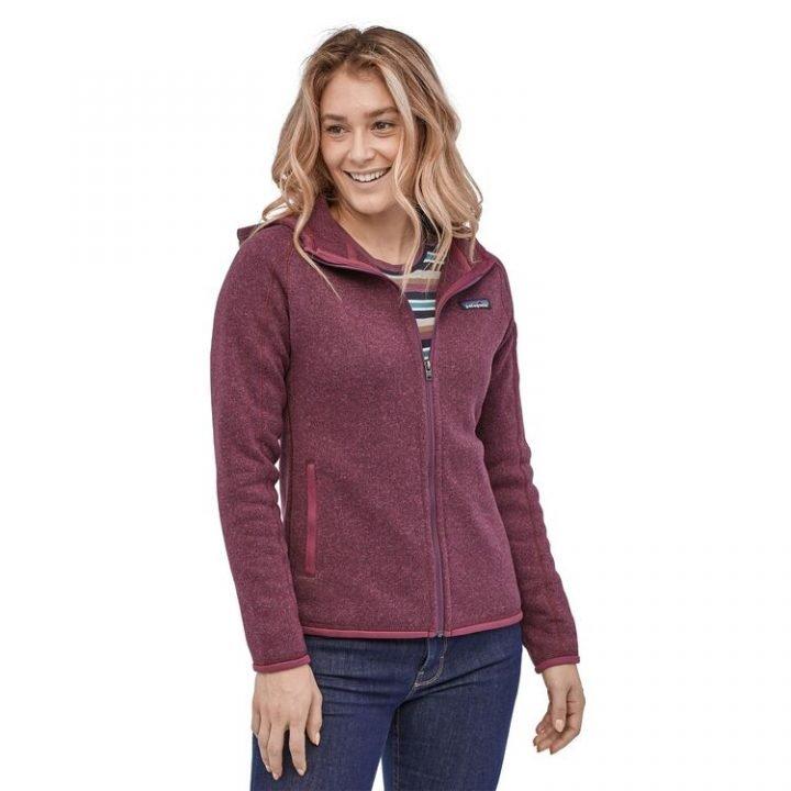 Patagonia Women's Better Sweate Full-Zip Fleece Hoody pile donna cappuccio zip viola