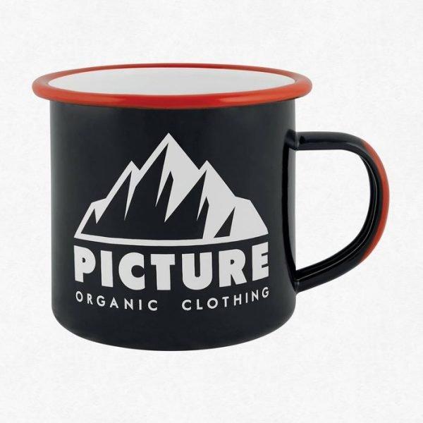 Picture Tazza Acciaio Sherman Cup nera tazza acciaio campeggio con grafica
