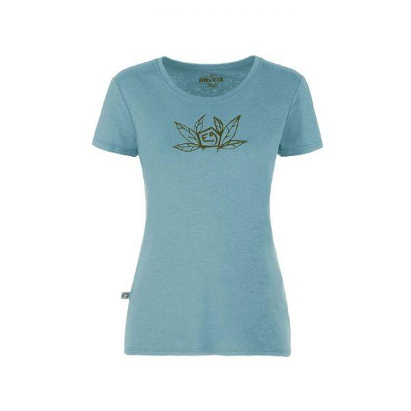 E9 T-shirt donna Sound azzurra climbing women