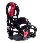 Gnu Cheeter Attacchi Snowboard neri e rossi