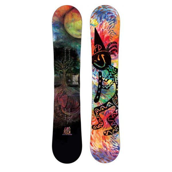Lib-Tech Box Scratcher Btx 151 Snowboard tavola banana