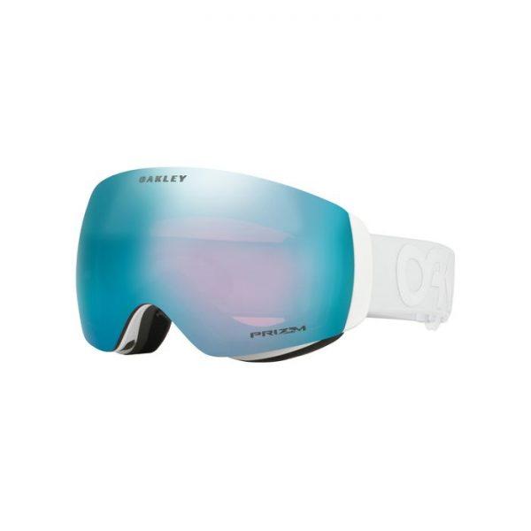 Flight Dec XM Factory Pilot Whiteout Snow Goggle 7064-60 maschera uomo donna fascia bianca lente azzurra