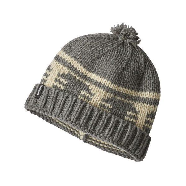 Patagonia Sapka Beanie cappellino invernale caldo grigio