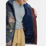 Men's Burton Breach Insulated Jacket Patchwork Yardage / Denim cappotto snowboard ragazzo