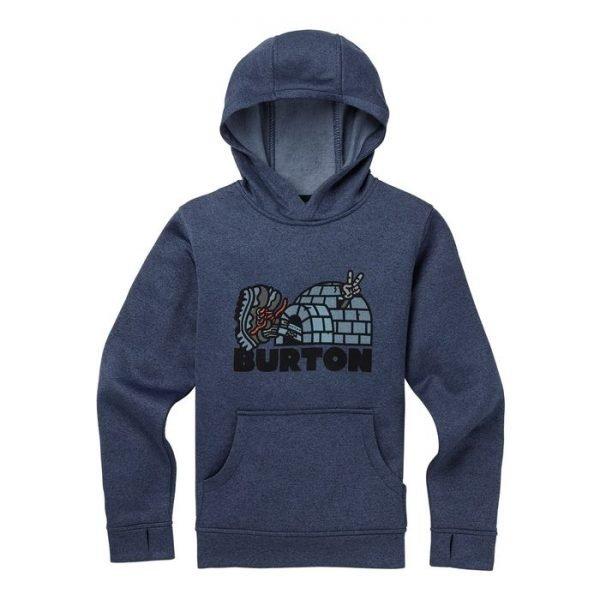Boys' Burton Oak Pullover Hoodie felpa pile ragazzo blu igloo