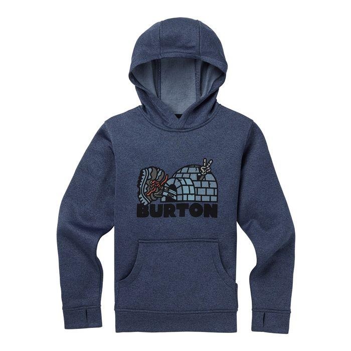 Boys  Burton Oak Pullover Hoodie felpa ragazzo bimbo snowboard e257f4987af1