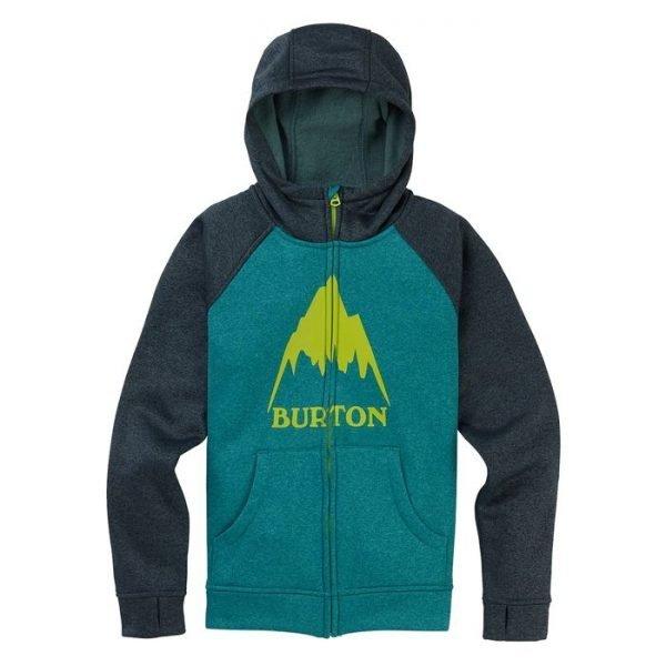 Boys' Burton Oak Full-Zip Hoodie felpa ragazzio bimbo snowboard con cappuccio e zip